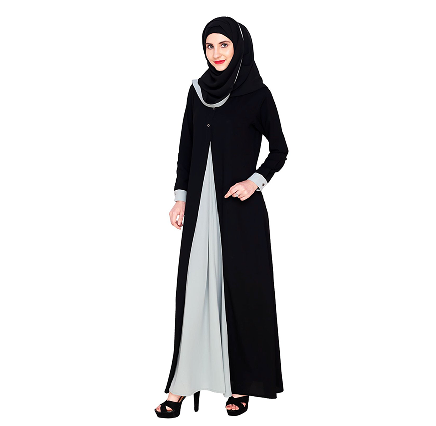 Imported Maxi Double Layer Abaya Dress-Mint – Laki Studio bc860efe4